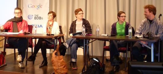 Ina Freundenschuß, Chris Köver, Svenja Schröder, Helga Hansen und Rochus Wolff auf der re:publica 2010