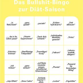Missy präsentiert: Das Bullshit Bingo zur Diät-Saison
