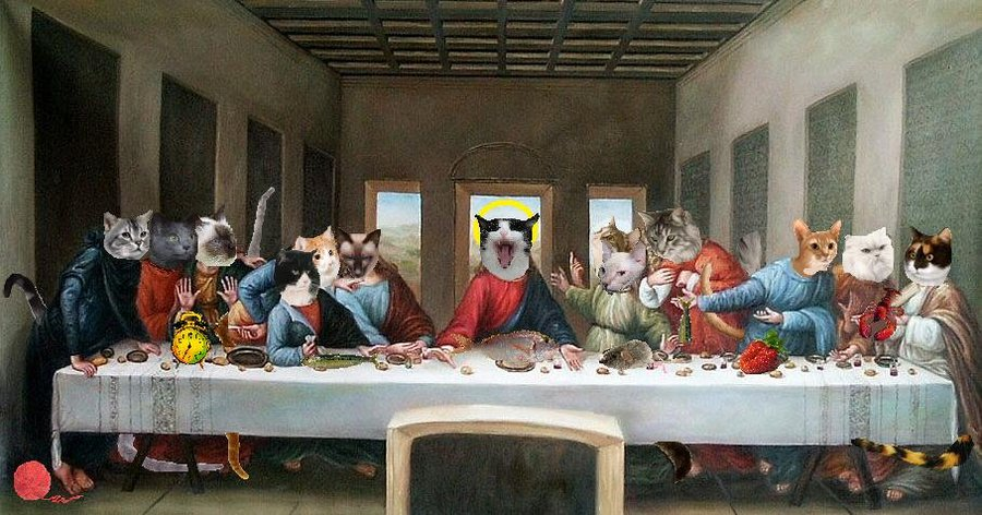 fluffy__s_last_supper_by_baboonfan-d3b8gxd