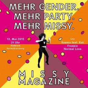 Mehr Gender! Mehr Party! Mehr Missy!