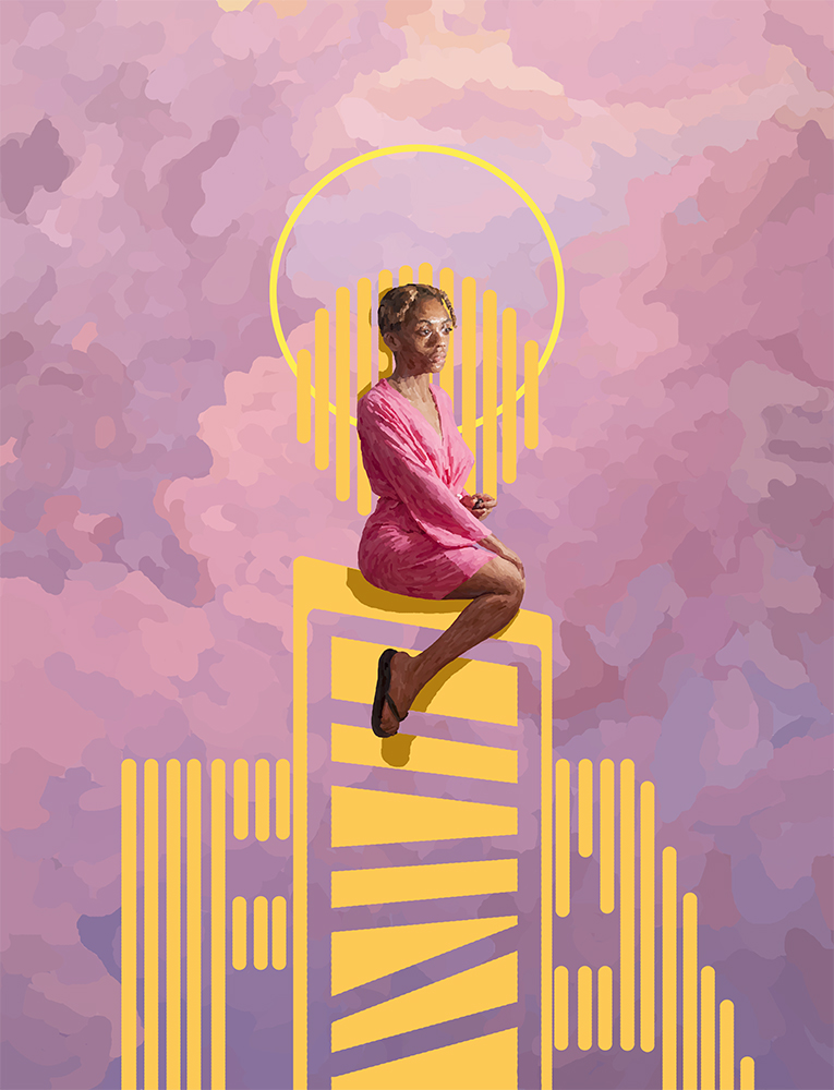 RAFiA Santana, RAFiA ABOVE (part two of triptych), 2014, Digital Painting
