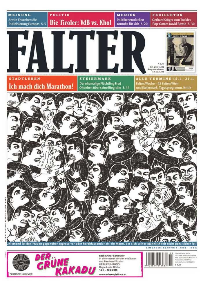 Das gerügte Cover © Falter