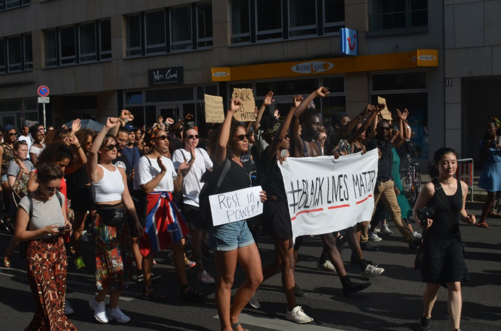 #BlackLivesMatter-Demonstration am 10. Juli 2016 in Berlin © Chris Schulz