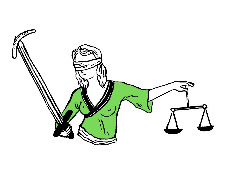 Selbst die Justizia wird übersexualisiert. © Tine Fetz