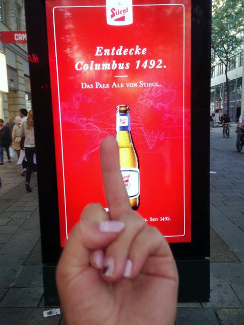 Was ist das für 1 Bierwerbung? 1, die Kolonialismus romantisiert. © Isabel Prado