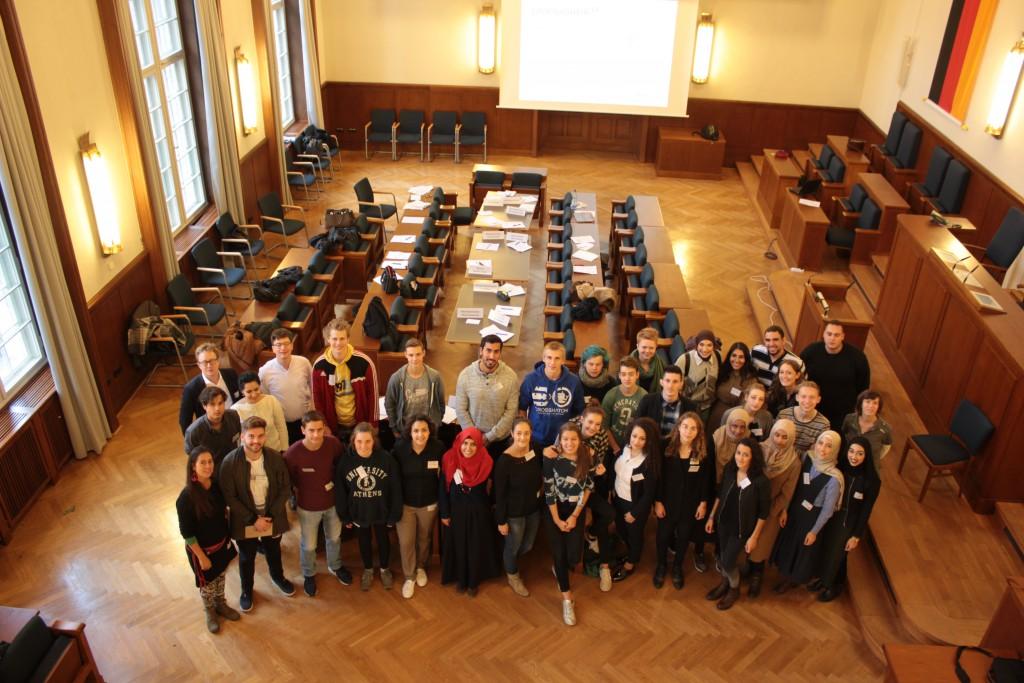Die Teilnehmer*innen der JIK © Junge Islam Konferenz