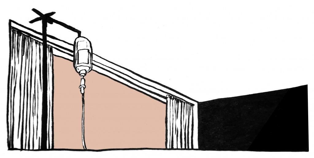 Der trostlose Blick auf die Krankenhausdecke, die Schmerzen und der Wunsch, endlich den Löffel abzugeben erfordern Debatten über Sterbehilfe. © Tine Fest