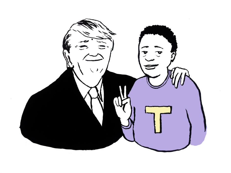 Jedes Unterdrückungssystem, so auch Donald Trump, braucht seine Tokens. © Tine Fetz