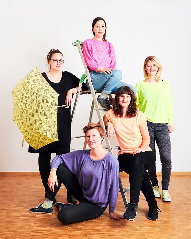 Emily Klamm, Valerie Siba, Lisa Klinkenberg, Hedi Lusser, Verena Brüning. © Verena Brüning