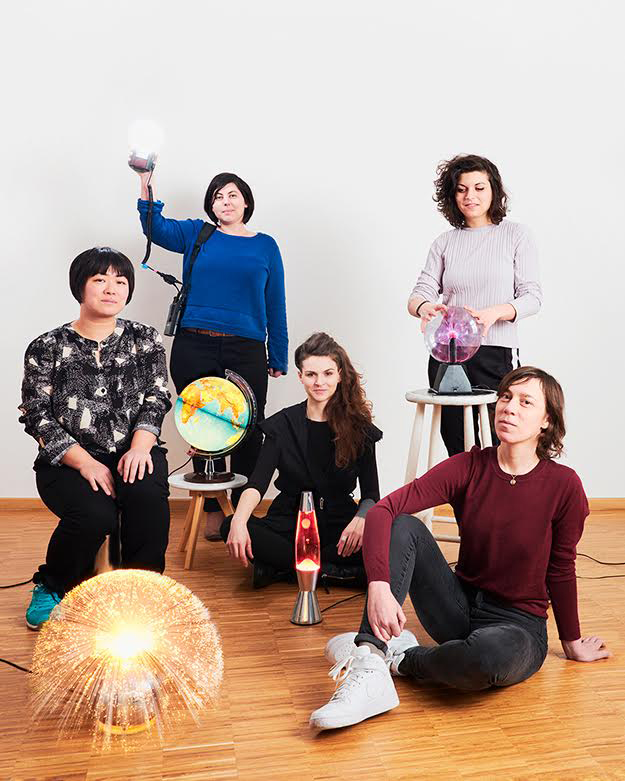 Vina Yun, Anna Mayrhauser, Katie Fenderl, Patricia Bonaudo, Chris Köver. © Verena Brüning